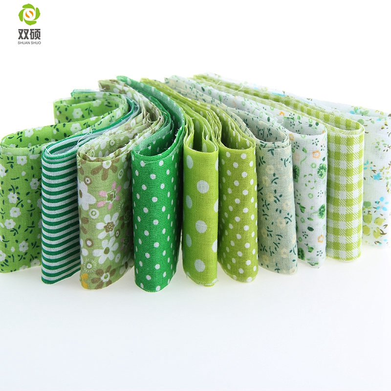 2016 New 10pcs Green color Royal Theme 100% Cotton Fabric Strips Quilting Jelly Roll Patchwork Crafts For DIY Sewing Toys