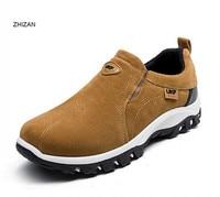 Hot Sale Spring Autumn Fashion Men Shoes Mens Flats Casual Suede Shoes Comfortable Breathable Flats