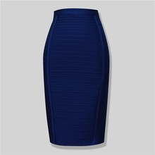 Brand Nerw Sexy Fashion Red Black Bandage Pencil Skirt New Arrival 2016 Elastic Bodycon Skirts 54cm