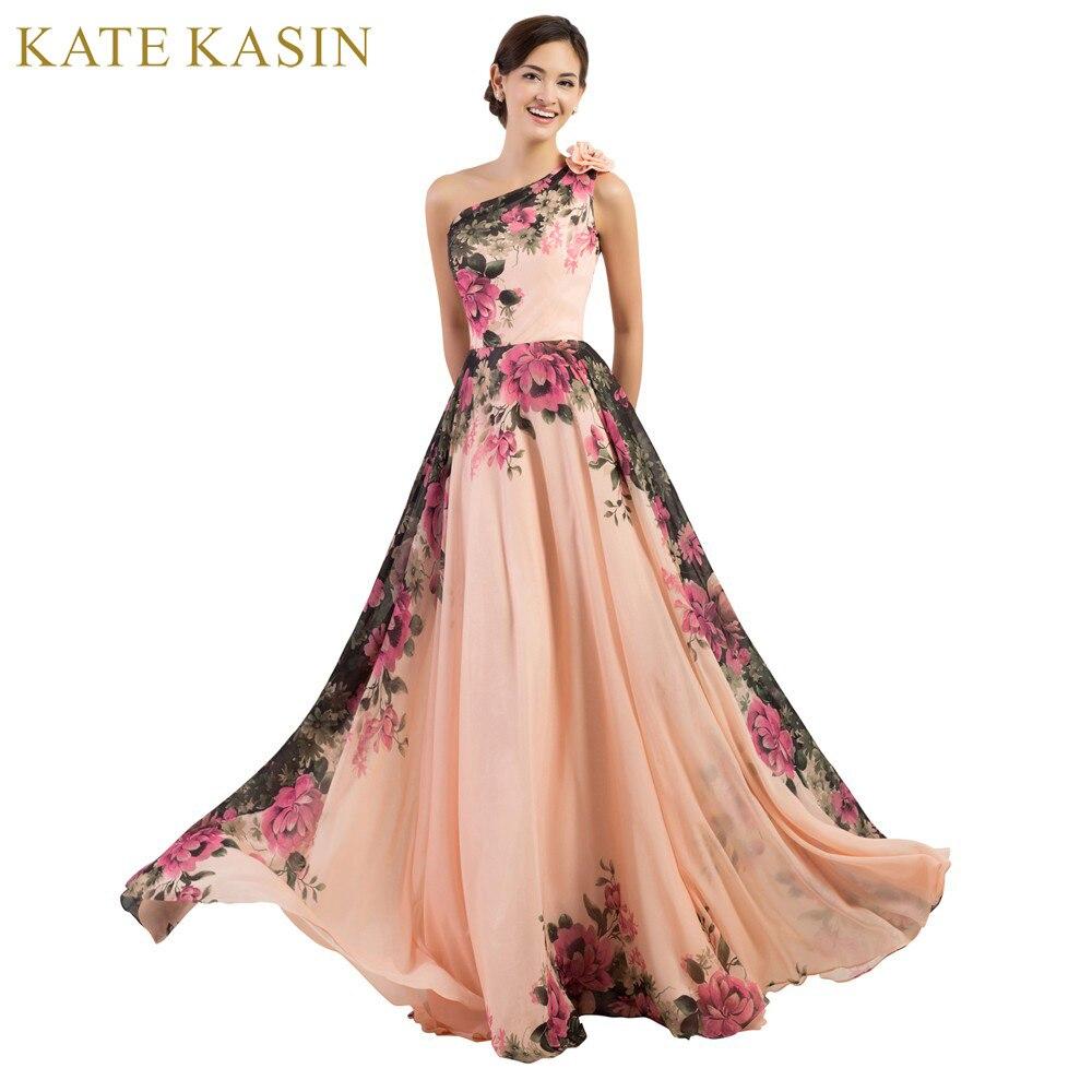 Femmes élégantes Vintage Plus La Taille Robe de Soirée Longue avec des Fleurs Imprimé Princesse Pas Cher D'été Robes Formales Abendkleid 75034