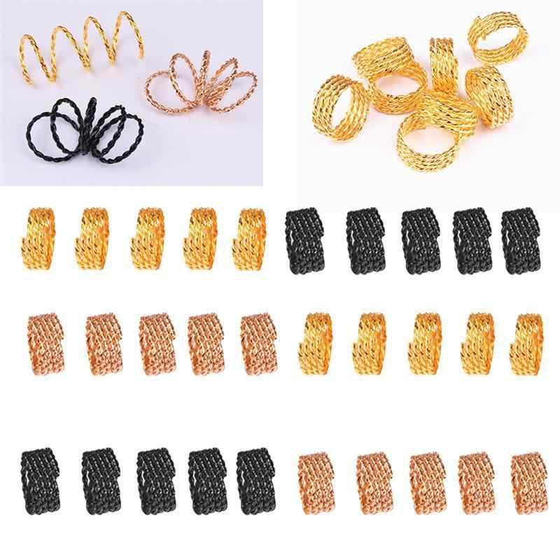 30 шт. микро кольца микро Обжимные бусины волосы косы бусины для дредов регулируемые косы манжеты зажим для наращивания волос