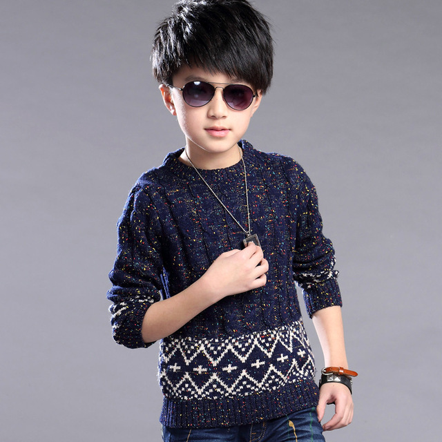 Kids Clothes For Boys New 2016 Winter Autumn Casual Long Sleeved Kitting Sweaters Fashion Children Thick Warm Cardigans Clothes