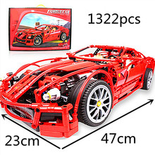 Technic  Series Building Blocks Racing Ferraria 599GTB Sports Car F1 Enzo F40 Block Model toys gift