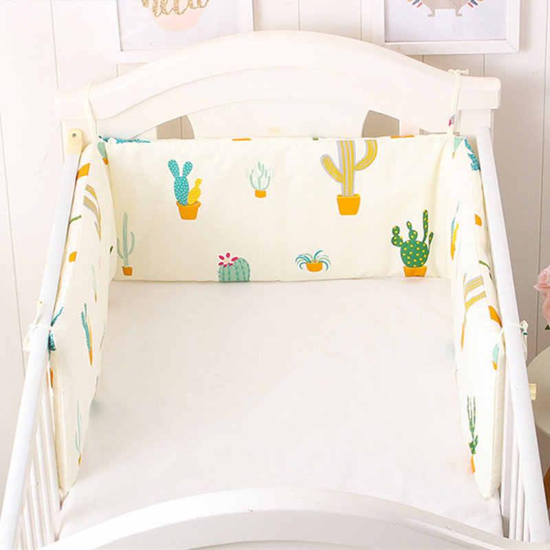 รูปแบบการ์ตูนเด็ก Bumper Cot กันชนผ้าฝ้ายสำหรับทารกหมอนสำหรับเตียงเด็กทารกกันชนพยาบาล 180*30 cm