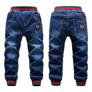 Image 3 - Jeans en coton pour enfants, vêtements dautomne taille 10 pour petites filles, pantalon chaud pour grands et garçons, à la mode, hiver offre spéciale