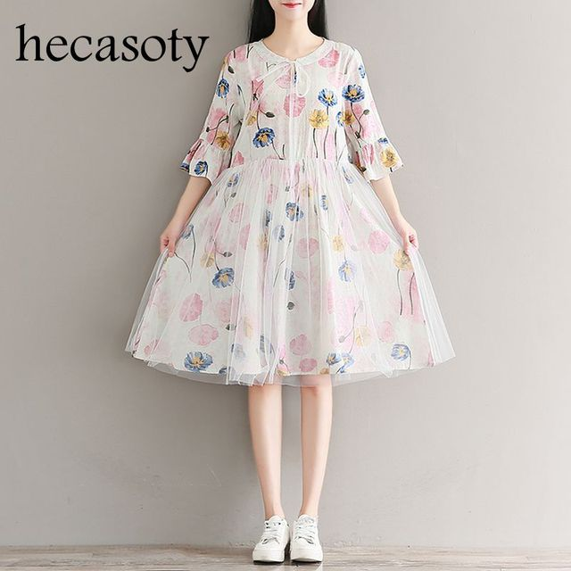 37327929da1b Maternity Clothes 2018 New Summer Floral Mesh Patchwork Casual Clothes  Maternity Dress Tops Pregnancy Clothes for Pregnant Women