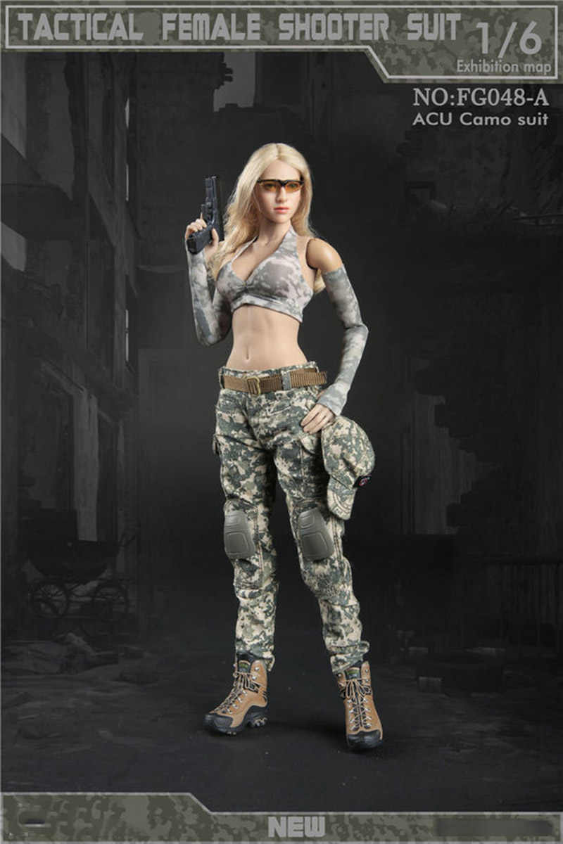 6 Scale Battlefield Girl Anzug 12in Action Figure Female Doll Accs Teile 1