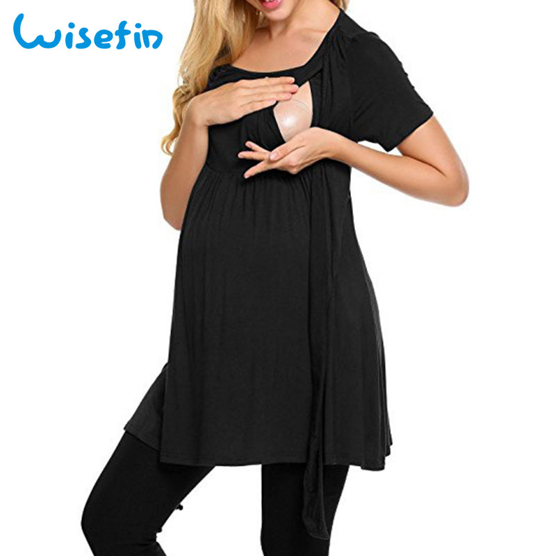 Wisefin Maternity Clothes Pregnancy Casual Summer Maternity