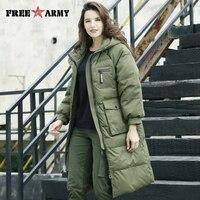 FreeArmy Oversized Women's Down Jackets Winter Hooded Snow Jacket Long Parkas Duck Down Coat For Women Warm Female's Outerwear