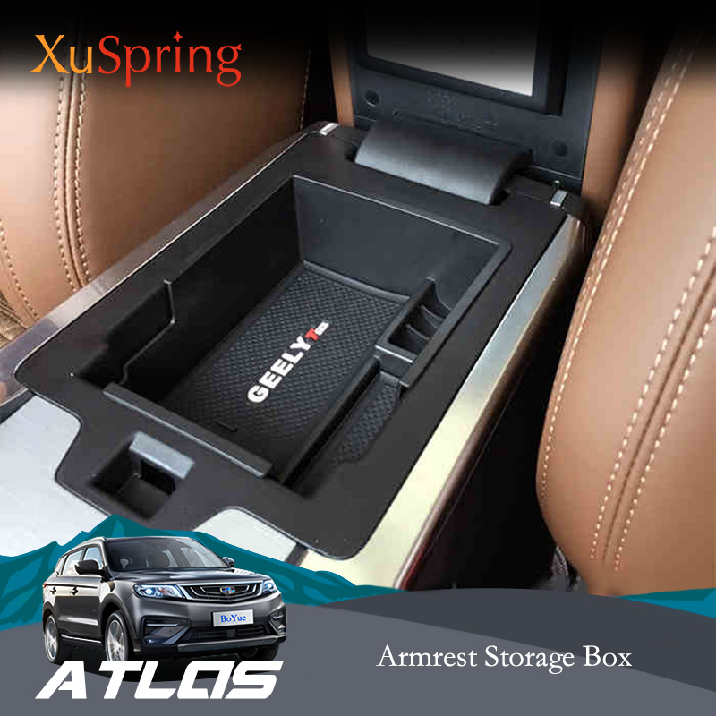 For <font><b>Geely</b></font> <font><b>Atlas</b></font> Boyue Emgrand NL-3 Proton X70 Console Armrest Central Storage Box Container Glove Organizer Case Car Styling image
