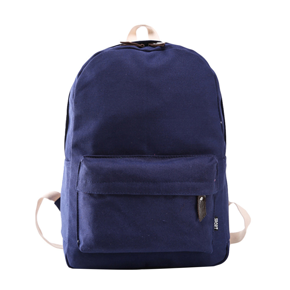 School Solid Color Backpack College Wind Backpack Canvas Computer Backpacks Travel Backpacks Casual Rucksack Daypack Satchel#24 ...