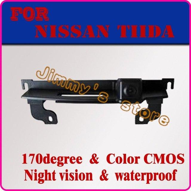 Câmera traseira do carro vista de backup do sistema de estacionamento reverter câmera de visão traseira para NISSAN TIIDA tronco handle estacionamento visão noite câmera