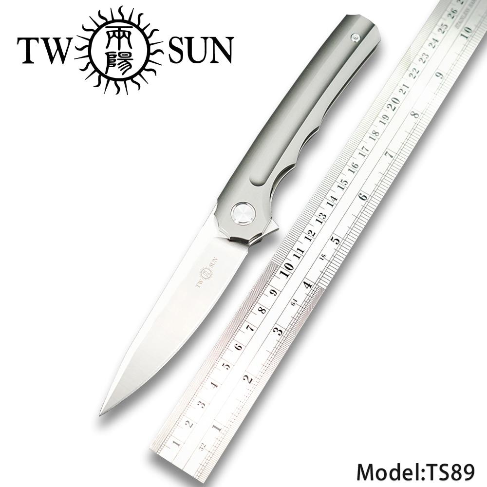 TWOSUN d2 klinge folding Tasche Messer taktische messer jagdmesser überleben werkzeug EDC TC4 Titan Kugellager Schnelle Öffnen TS89-in Messer aus Werkzeug bei AliExpress - 11.11_Doppel-11Tag der Singles 1