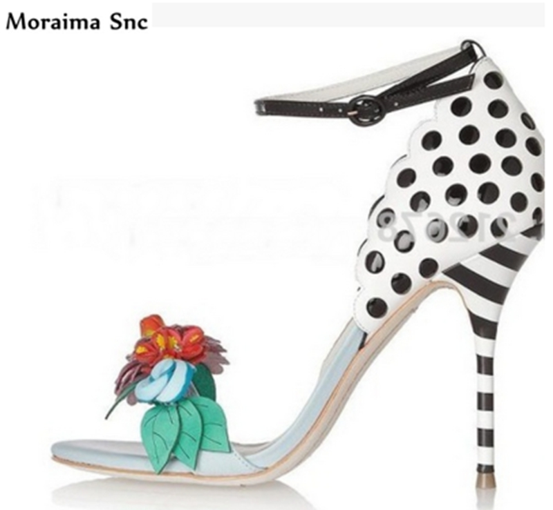 Moraima Snc Newest sexy woman pumps 2018 thin high heel open toe cover heel flower Decoration mixed colors party shoes sencart b22 3w 150lm warm white 2900 3200k cob led spot light ac 85 265v
