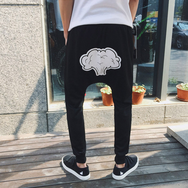 Free shipping 2017 autumn and winter explosion models Korean men's Harlan fashion casual pants patch
