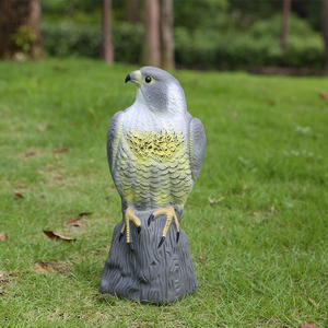 Image 1 - Realistic Falcon Scare Cat Scarer Rabbit Bird Repeller Cat Prowler Owl Fake Scarecrow Decoy Pest Control