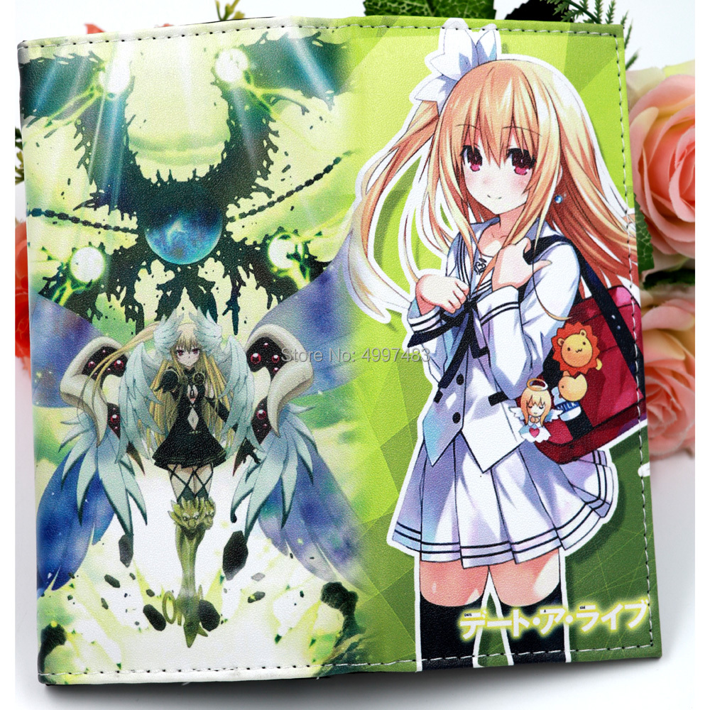 DATE A LIVE Anime Clutch Wallet Mayuri Fashion Women's Purse with Card Holder