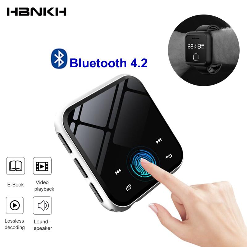HBNKH USB Mini lecteur MP3 Bluetooth 4.2 lecteur de musique vidéo Portable HIFI FM Radio enregistreur vocal 1.8 'écran tactile avec haut-parleur