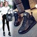 2017 Nueva Caliente de Alta Zapatos Casuales de Las Mujeres Patchwork de Cuero Genuino Transpirable Entrenadores antideslizantes Con Cordones Planos Zapatos de Mujer tamaño 35-40