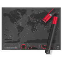 Moquerry High Quality Funny Capitals Edition Scrape Map Blow Off Map Of The World For Traveler