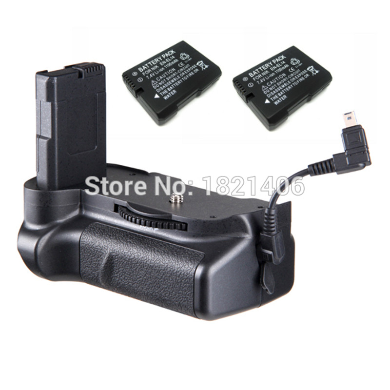 New Vertical Battery Grip Pack + 2x EN-EL14 decoded battery for Nikon D3100 D3200 D3300 Camera 2-step Shutter Free Shipping meike vertical battery pack grip for nikon d5300 d3300 2 en el14 dual charger