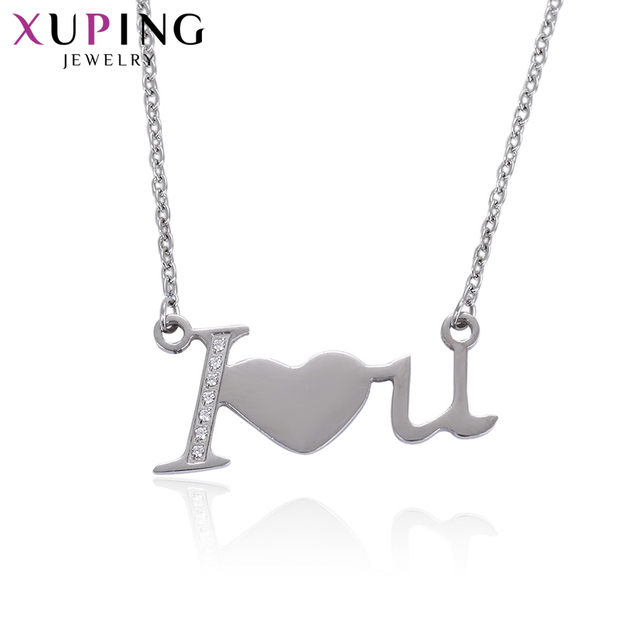 Xuping Elegant Heart Shape Necklace Pendant Love Synthetic Cubic Zirconia Jewelry for Women Valentine's Day S57.4-43368