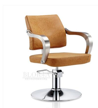 Hair salon personalized hair chair. Hydraulic chair. On adjustable chairs. Stainless steel armrest..