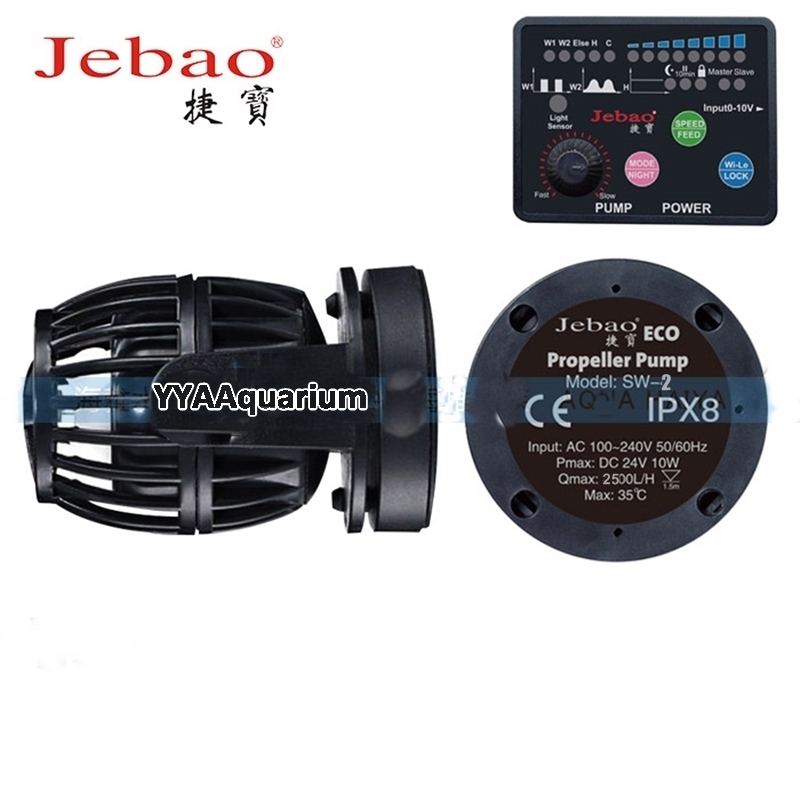 Jebao Quiet Wavemaker Aquarium DIY Impeller Pump W / Master Slave Controller For Reef Marine Damme RW Wave Maker Ny Jebao SW2