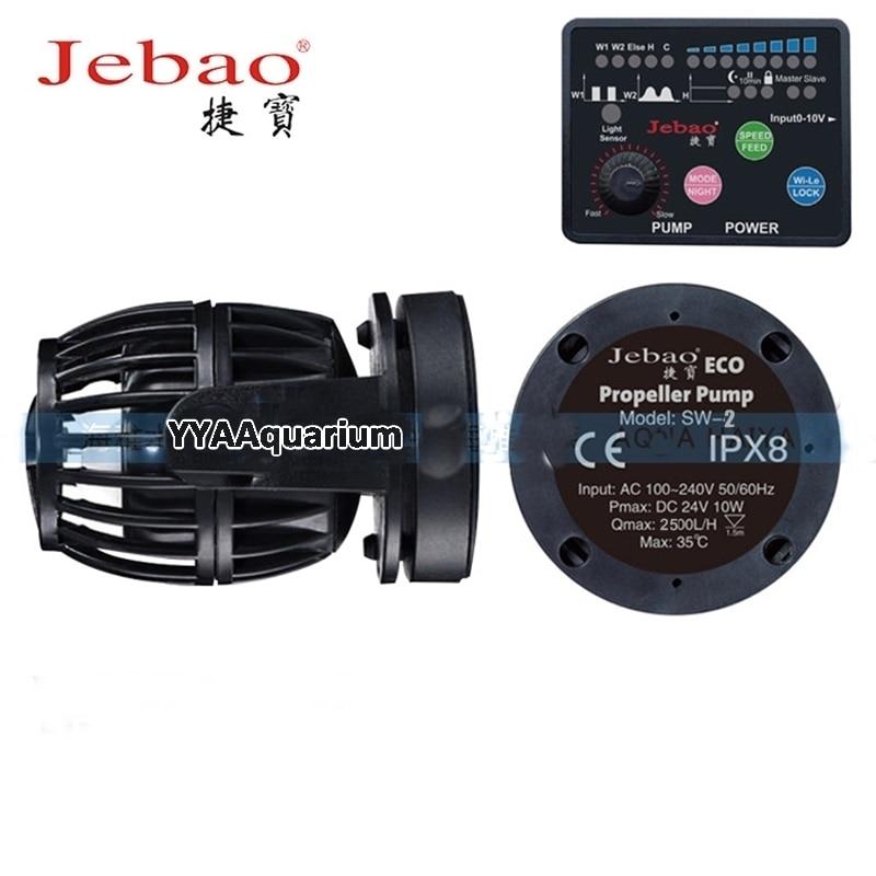 Jebao tranquille Wavemaker Aquarium bricolage pompe à aubes avec maître contrôleur esclave pour les étangs marins de récif RW fabricant de vagues nouveau Jebao SW2