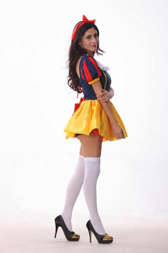 039577518b8 ... Sexy Fancy Fairy Tale Snow White Princess Costumes for Women Halloween  Costume Cosplay Fantasia Party Dress ...