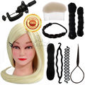 65cm Professional Style Hair Hairdressing Doll Heads Haircut Practice Head Mannequin Training Head with Free Braid Sets B40