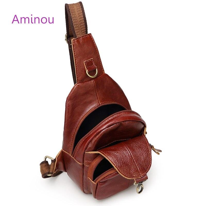 couro genuíno homem bolsa do Ocasião : Versátil