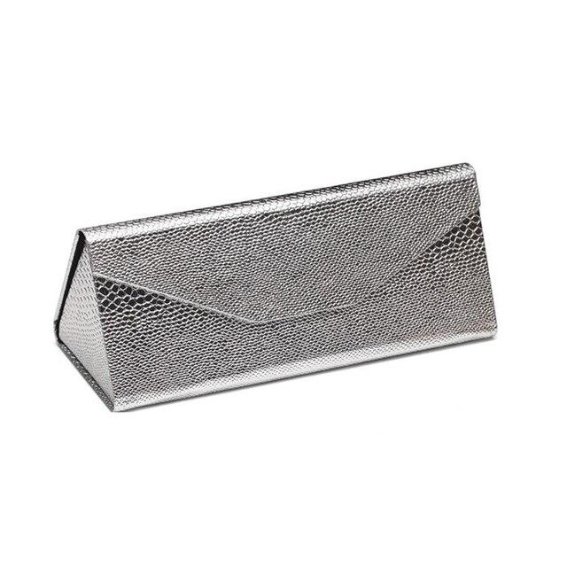 e86e2046d01 New Metal Glasses Case EVA Sunglasses Box Folding Triangle Lightweight Portable  Sun Glasses Case