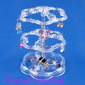 Wholesale 3 Clear Acrylic Plastic 72 Holes Earring Jewelry Display Stand Holder In 3 Tiers