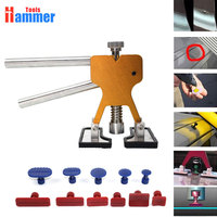 5 Colour AUTO Paintless Dent Repair Puller Kits Glue Puller Dent Lifter With 11 PCS Different