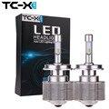 TC-X LED H4 Hi/Lo Faros Led de Alta Potencia Del Coche Auto Hilo Blanco 6000 K Bombilla HB2 9003 7000Lm Repalcement Bi Xenón faro