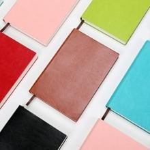 A5 griglia notebook 154 fogli 4mm griglia quaderni Diario del cuoio del faux notepad libro di carta millimetrata soft cover planner journal cancelleria