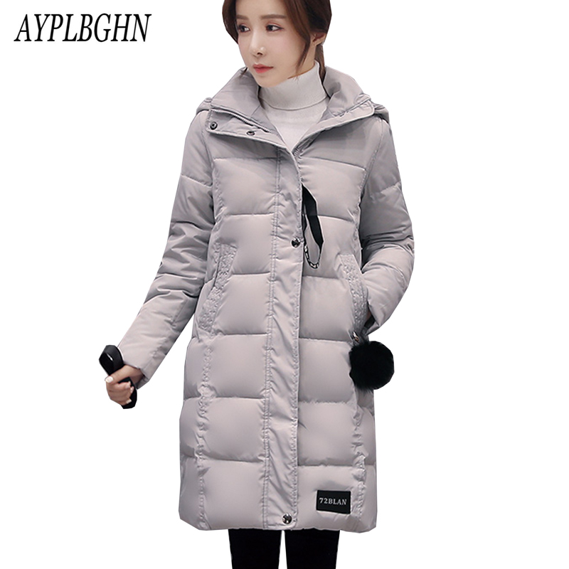 high quality 2017 New Female Warm Winter Jacket Women Coat Thick Cotton   Parka   Ultra-light Cotton-padded Jacket Long Outwear 5L71