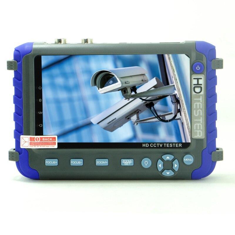 Professionnel CCTV outil de test IV8C 5 pouce TFT LCD 5MP AHD TVI 4MP CVI CVBS CCTV Caméra Testeur Monitor support PTZ UTP