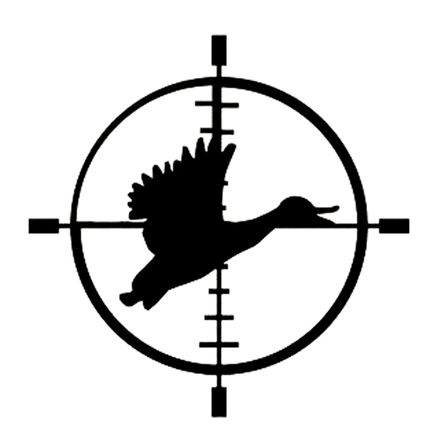 15cm15cm duck target cross hair hunting car window decor vinyl decal originality car sticker