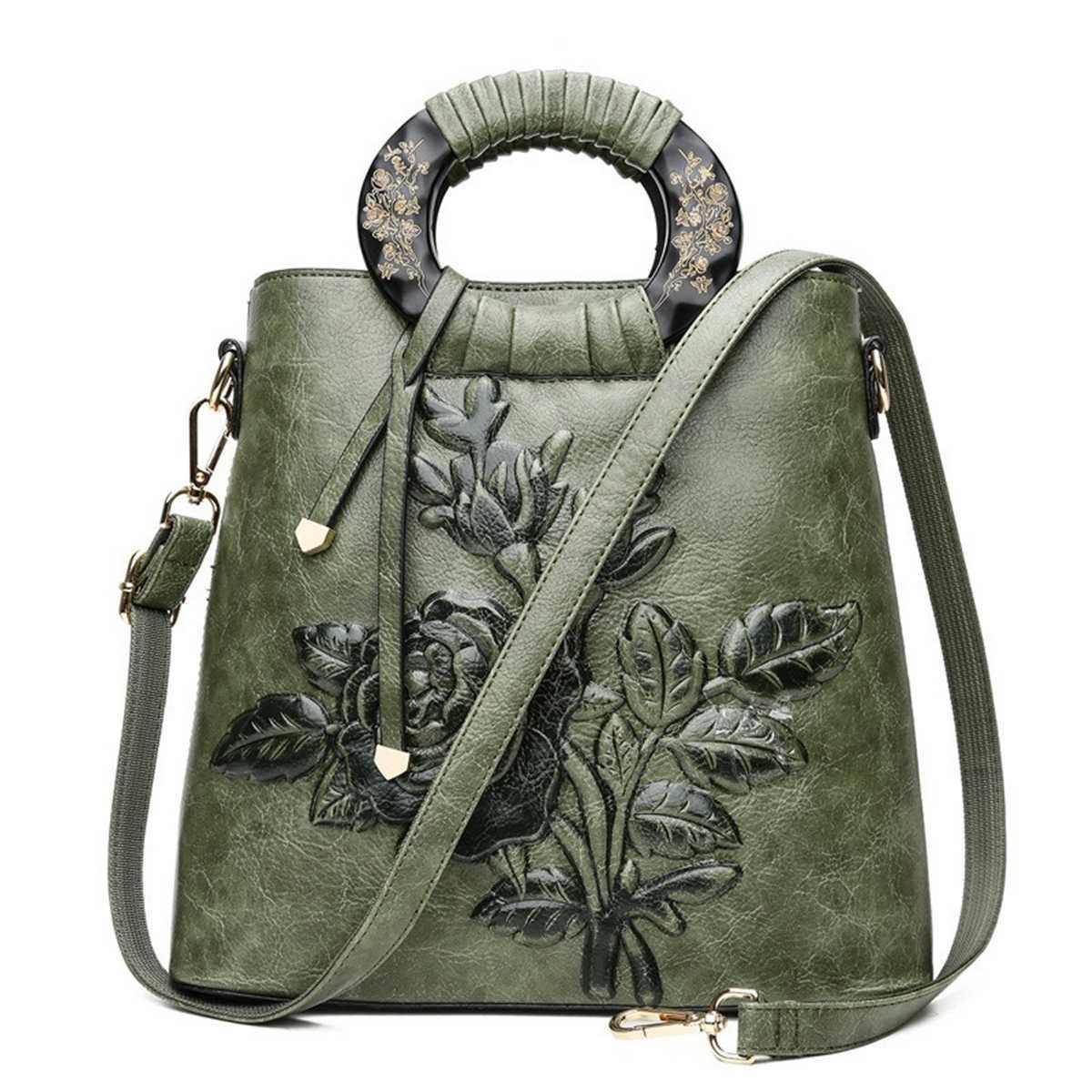 De lujo de las mujeres bolso mujer cuero de mensajero bolso de marca bolsas verde Rojo Bolsa femenina de cuero de la PU bolso de mano