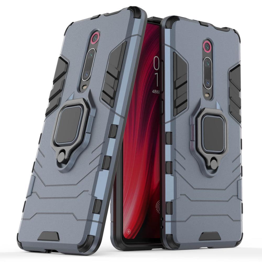 Armor Car Holder Magnet Ring Phone Case PC+Silicone Cover On For Xiaomi MI 9 SE 9T Pro Mi9 9SE Mi9t t Global 64/128/256 GB Xiomi(China)