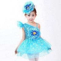 Wedding Birthday Party Butterflies Printing Girls Dress Shiny Paillette Children Ballet Dancing Clothes GymnasticsTutu Disfraces