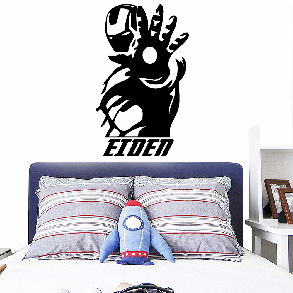 Custom Eiden Cartoon Wall Decals Pvc Mural Art Diy Poster Removable Decor