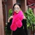 Зима искусственного меха шаль теплый воротник длинный меховой шарф женщин искусственный мех обертывания косплей глушитель женский нереально меха украл аксессуары