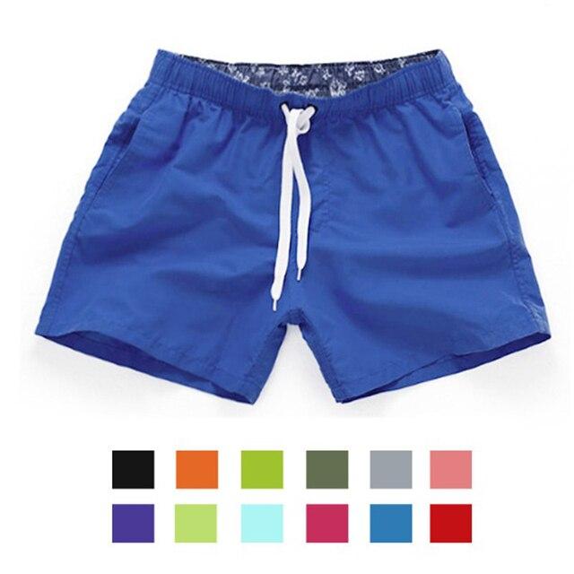 889009fe8edffd XXXL Szybkie Suche Szorty Męskie Stroje Kąpielowe Męskie Kąpielówki Plaża  Spodenki Sportowe Kieszonkowy Solid Gay Mężczyzna