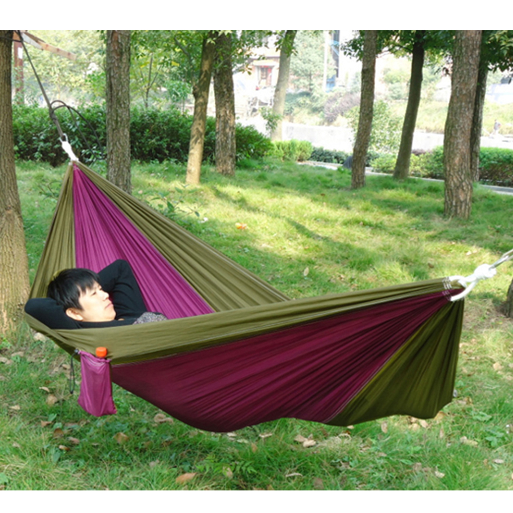Portable Hammocks For Outdoor Traveling Camping Parachute Nylon Fabric Swing Hammock for Two Person Travel Hammock BS portable nylon single or double person hammock parachute parachute fabric hammock for travel hiking backpacking camping hammock