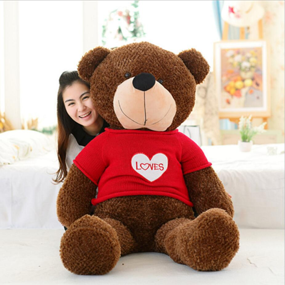 150cm Bear Big Plush Toys Giant Teddy Bear Large Soft Toy Stuffed Bear White Bear I Love You Valentine Day Birthday Gift stuffed animal 120 cm cute love rabbit plush toy pink or purple floral love rabbit soft doll gift w2226
