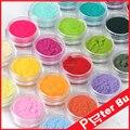 24 Colores de Moda de Uñas Decoración Fuzzy Terciopelo Flocado Nail herramientas Del Arte Del Clavo Polvo De Acrílico UV gel Tips