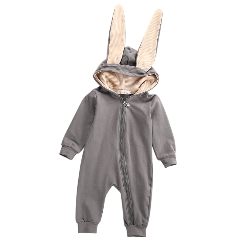 Kids Infant Baby Girl Boy Clothes Long Ear Bunny Romper Lovely Jumpsuit Playsuit Outfit Lovely Costume одежда на маленьких мальчиков